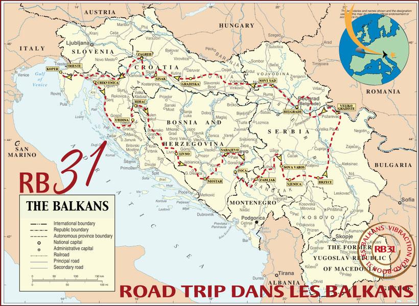 Carte RB 31 Les Balkans