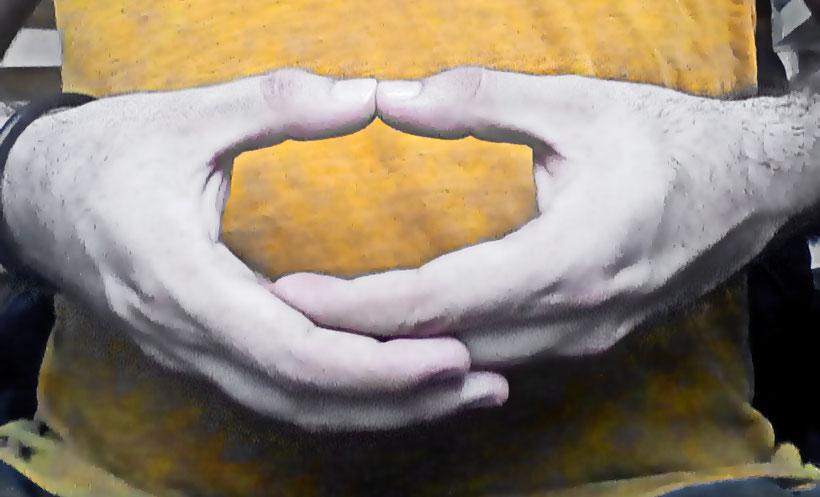 mudra del vacío o dhyana mudra