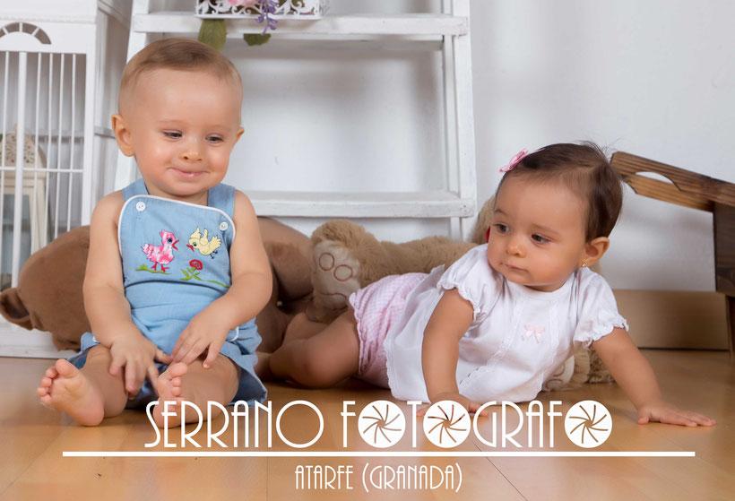 Sesión en el Estudio fotográfico de Serrano Fotógrafo con José y Martina