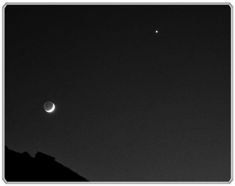 Mond Venus Astrofotografie