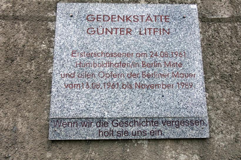 Gedenkstätte Günter Litfin Berlin