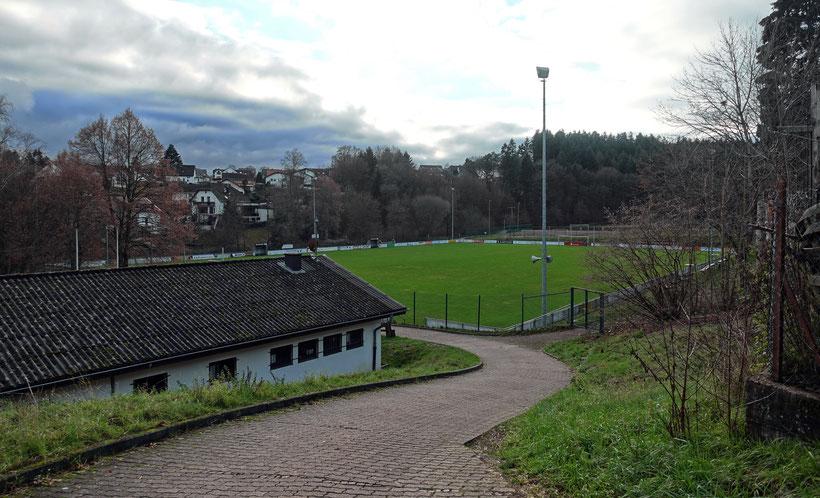 Das Holzbachlstadion des SV Weiskirchen-Konfeld in Weiskirchen