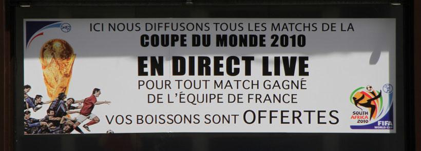ohje, hier hätte ich mich als Franzose sehr geärgert :-)