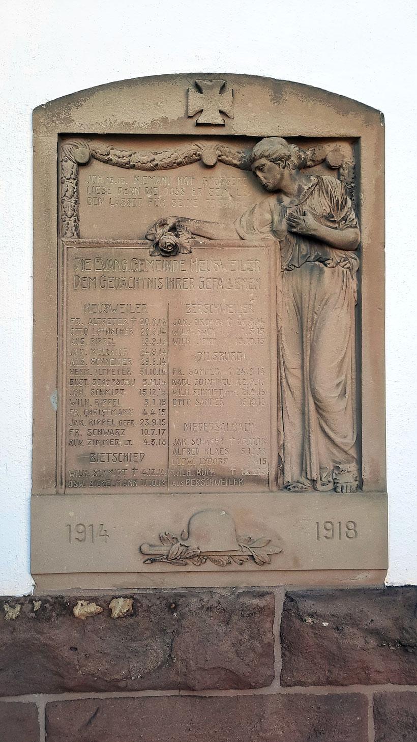 Kriegerdenkmal in Heusweiler Erster Weltkrieg
