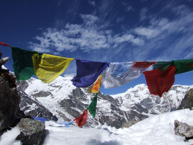 Drapeaux de prières, Everest, Népal, Himalaya
