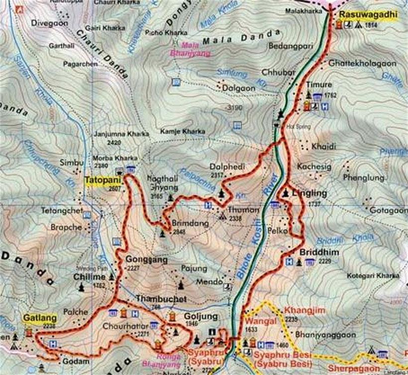 Tamang Heritage trail map