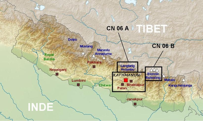 Plan détaillé Népal, trekking au Népal, Everest