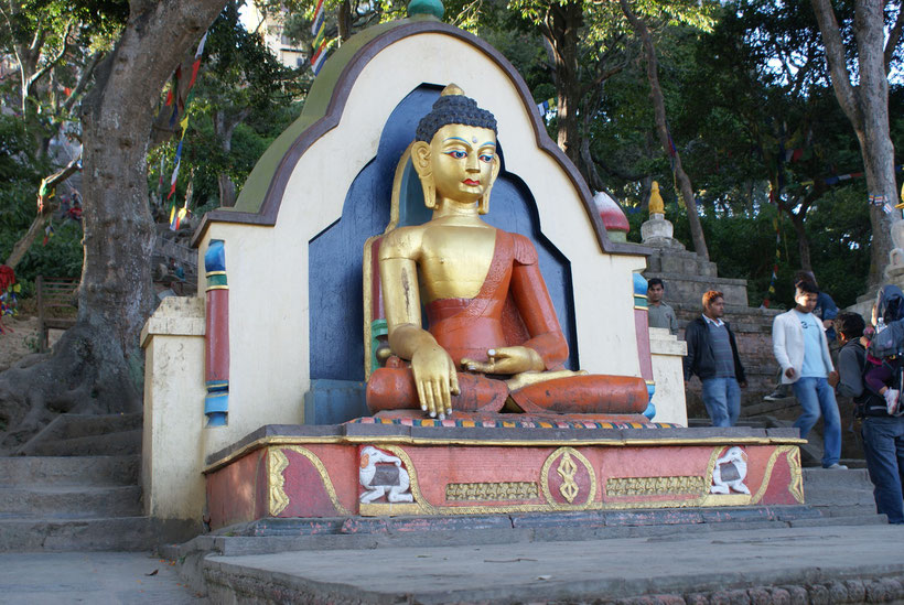 Bouddha Swayambunath, Kathmandu, Népal