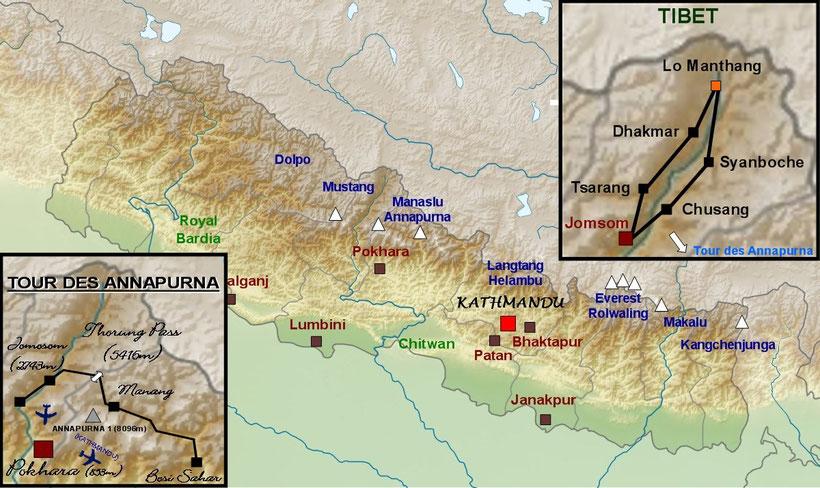 Trek Mustang, trek Annapurna, trekking au Népal