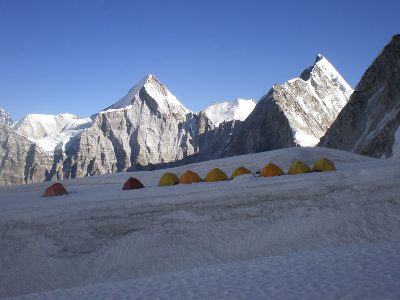 Camp d'altitude, Everest, Népal