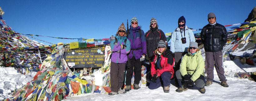 Au Thorong La Pass (5416m) - Tour des Annapurna - Népal