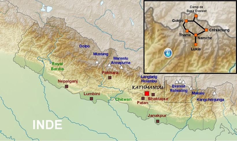 Plan détaillé Népal, trekking, voyage