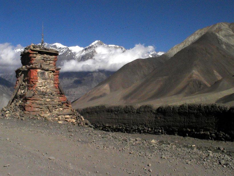 Pont suspendu, Mustang, Népal