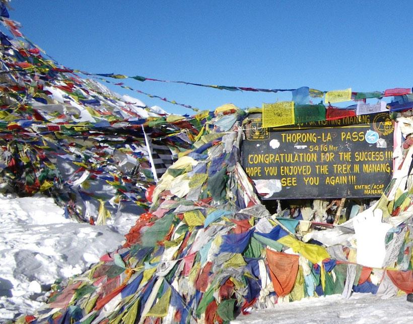 Thorong La Pass (5416m), Tour des Annapurna, Népal