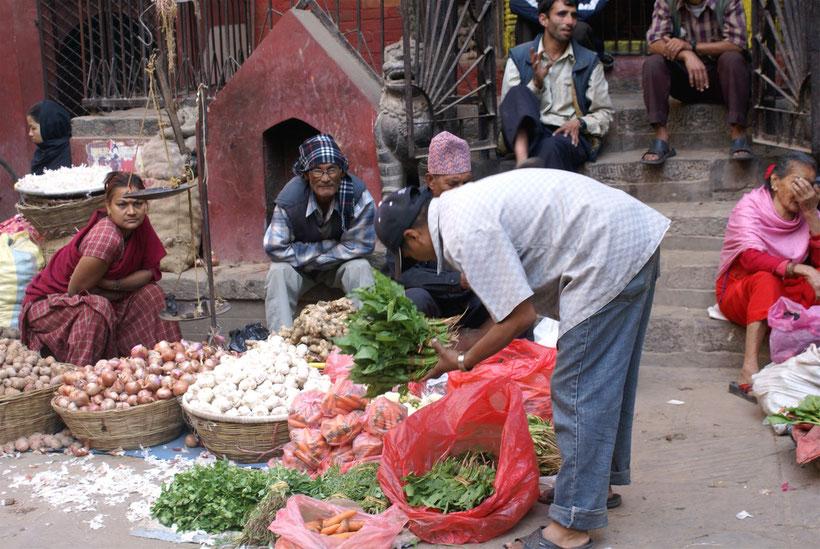 Marché de Katmandou, Népal