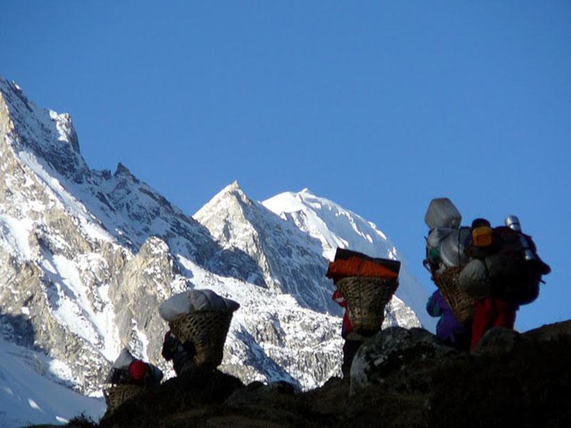 Porteurs Tashi Lapcha, Khumbu, Everest, Népal
