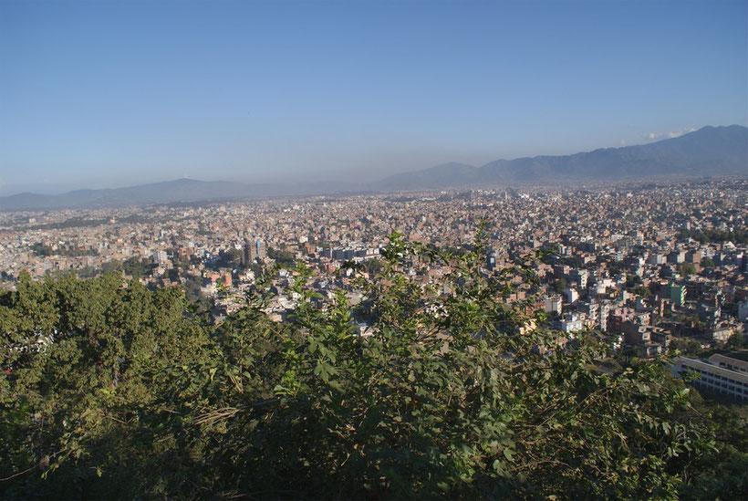 Circuit au Népal : vue sur Katmandou depuis Swayambunath