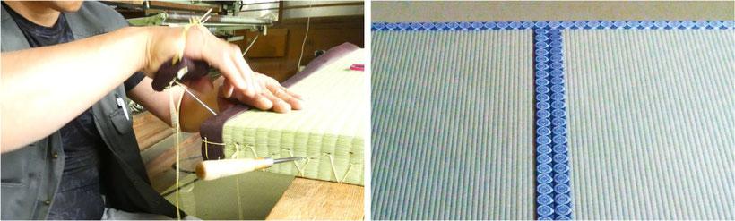 畳職人の技 写真右:聖徳寺(三田市)