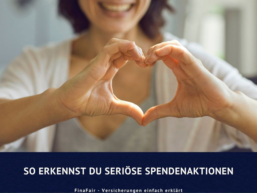 Seriöse Spendenaktion