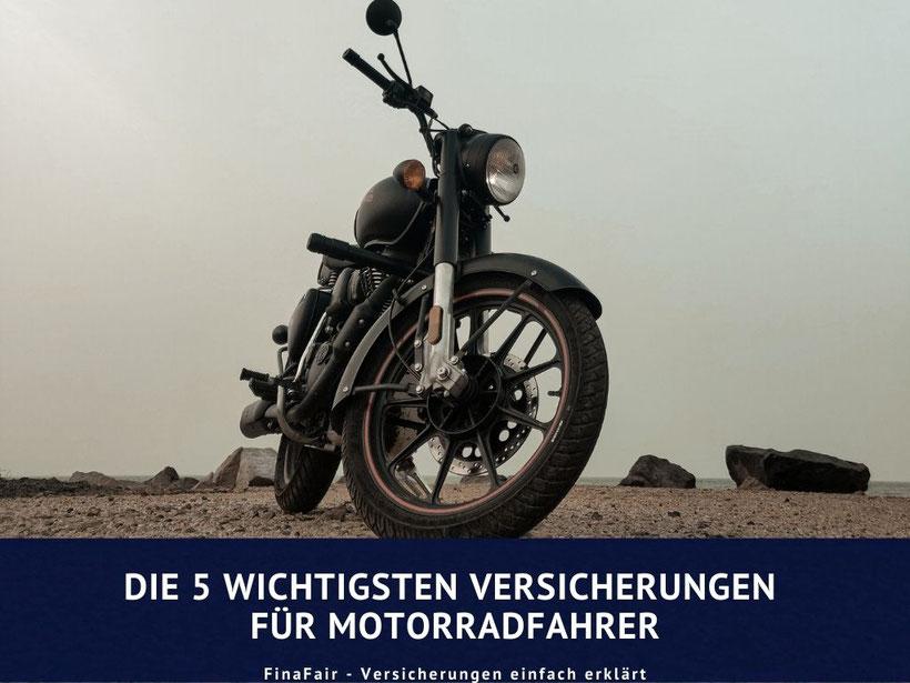 Motorradunfall, Motorradversicherung, wichtige Versicherungen Motorradfahrer