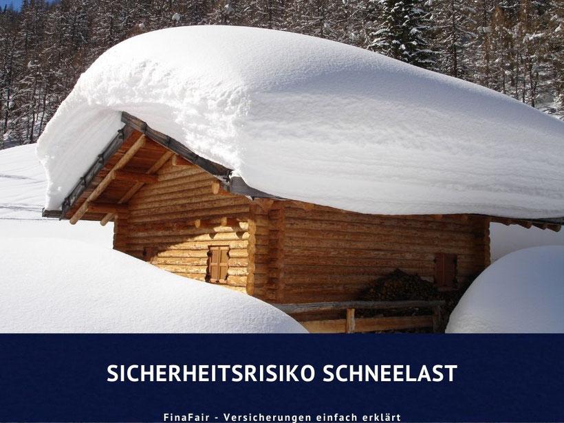 Schneelast auf Hausdächern