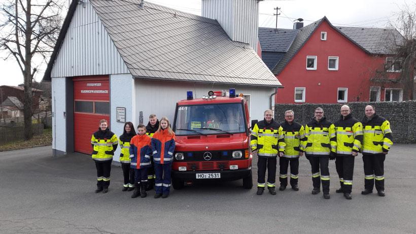Die Jugendgruppe der Feuerwehr Kleinschwarzenbach