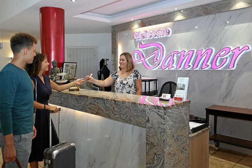 Checkin im Hotel Danner im Hotel Danner in Rheinfelden
