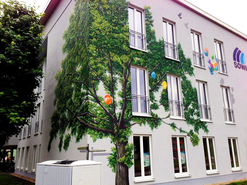 Fassade als Graffiti Künstler
