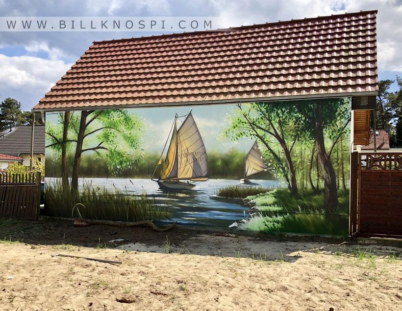 Entstehung einer Illusionsmalerei im Garten