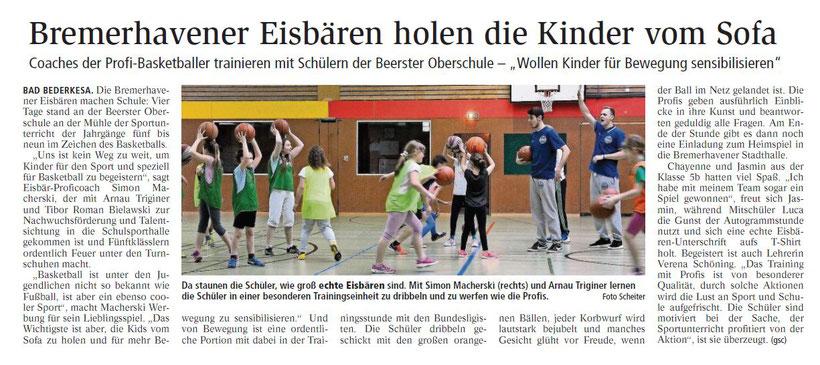 Nordsee-Zeitung vom 2. März 2017