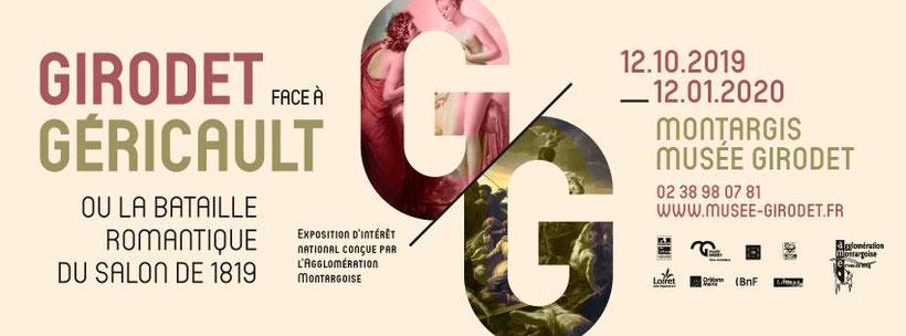 Girodet Face à Géricault du 12 octobre au 12 janvier 2020 au Musée Girodet à Montargis