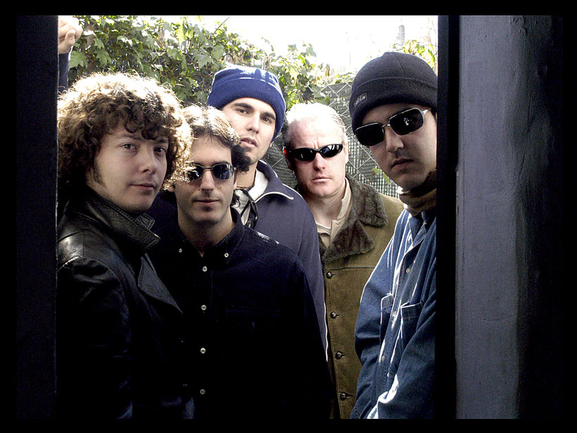 Spanish rock band 'Soulteros' in Seville, Spain 2003. 'The Wildest Band of All Time.'