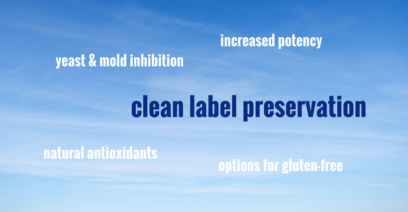 preservatives: yeast and mold inhibition, natural antioxidants, gluten-free options, increased potency