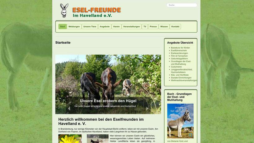 Esel-Workshop | Eselfreunde im Havelland e.V. Startseite