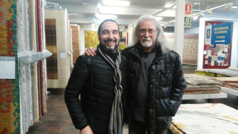 Carles Benavent con Juan Quesada, Director de E8.