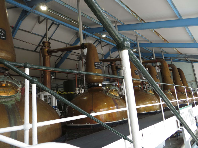 Stills at Laphroaig Distillery