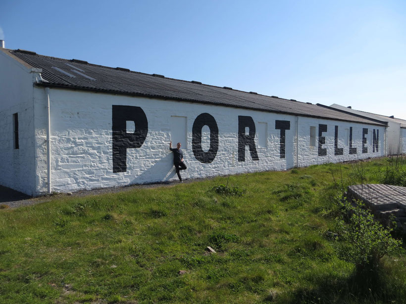 Port Ellen Distillery - unfortunately it is inoperative
