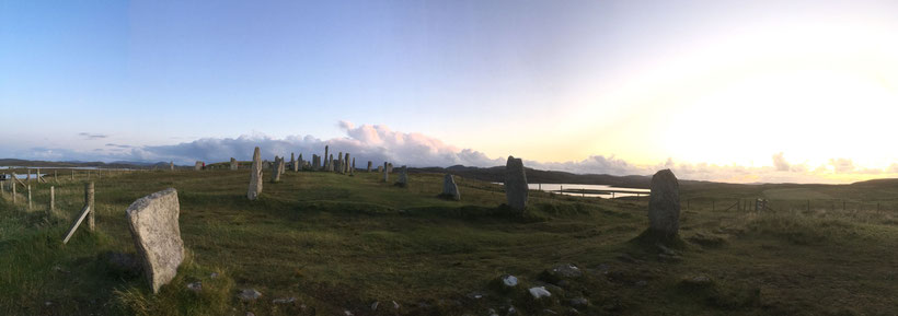 Standing Stones of Callanish panoramic view