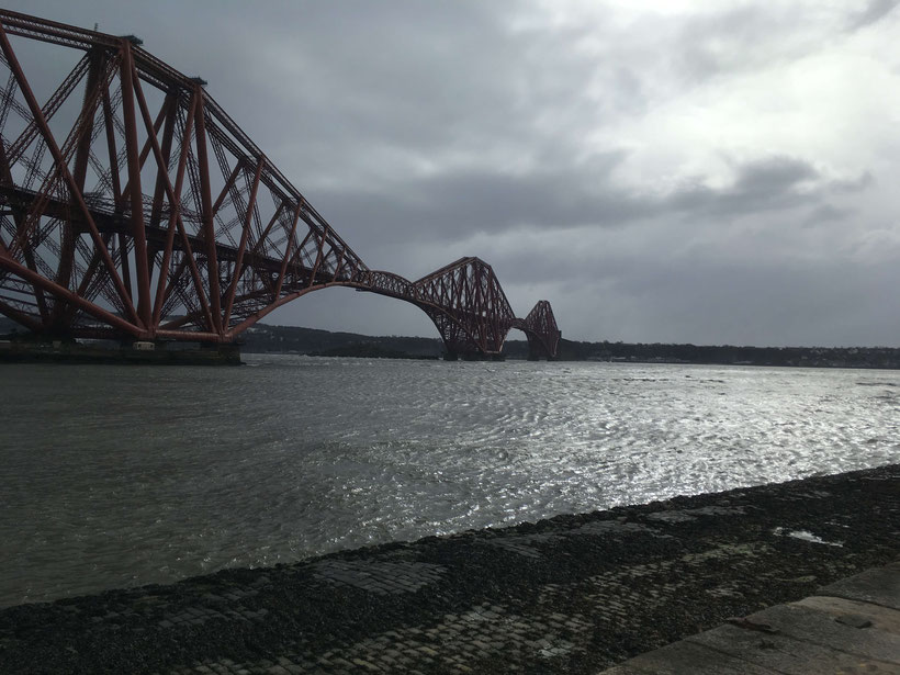 The impressive Forth (Rail) Bridge spanning the Firth of Forth was opened in March 1890
