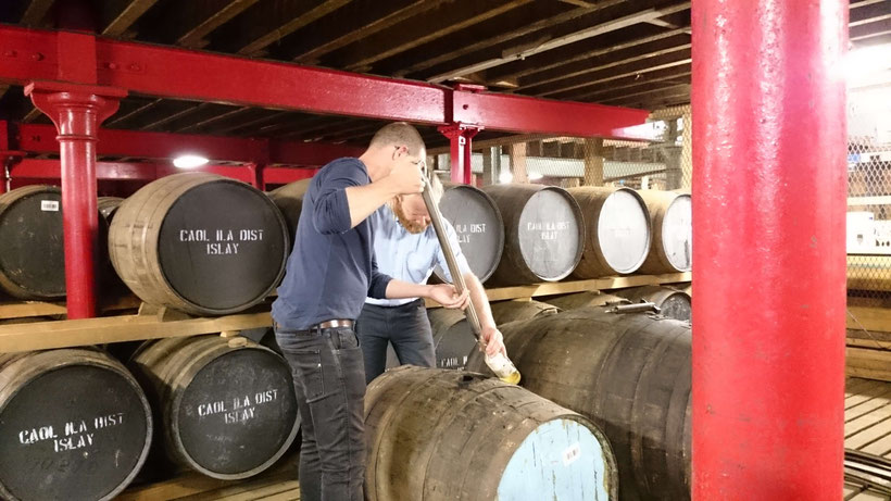 Ingo taking a sample at Caol Ila Distillery
