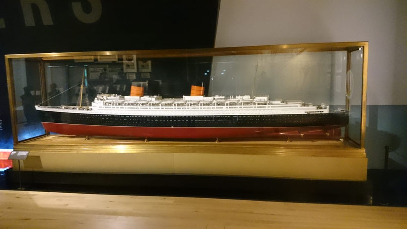 A model of the Queen Elizabeth