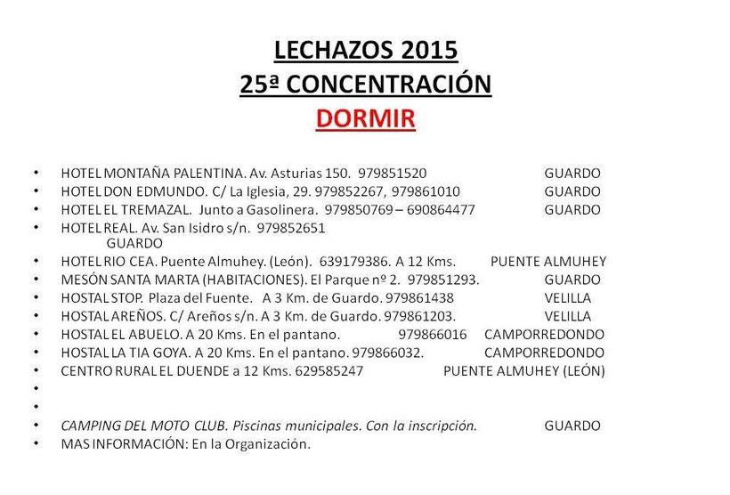 Concentración motera LECHAZOS 2015 en Guardo