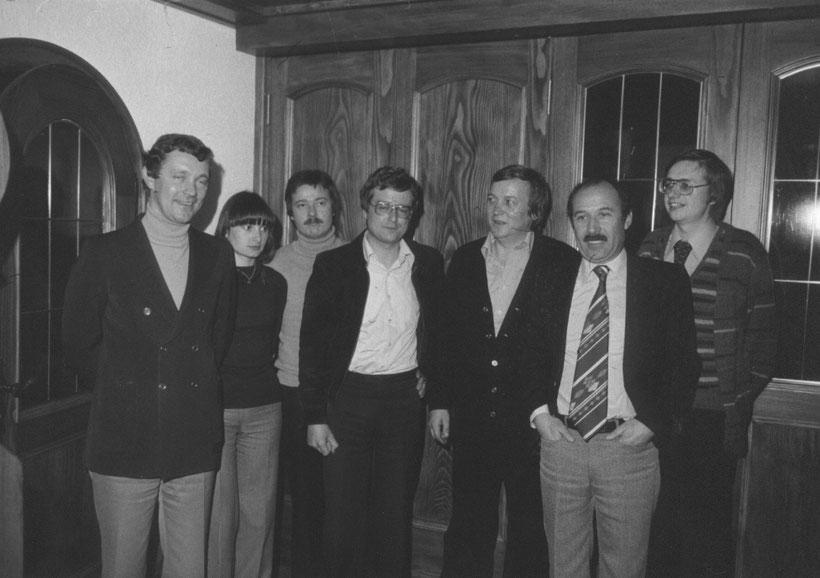 Weitere Gründungsmitglieder, von links nach rechts: Klaus Wilhelmi, Marina Maier, Hans Hessler, Arno Stöhr, Paul Link, Willi Schwendemann, Ingo Vivell