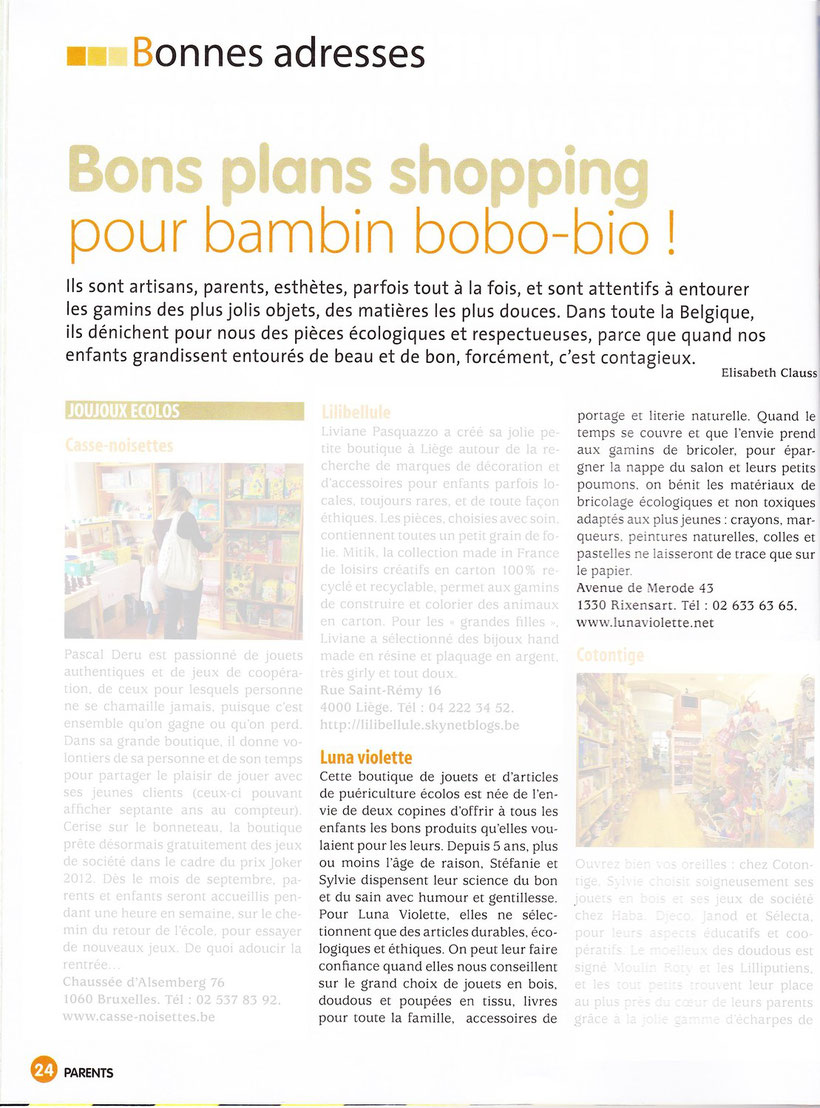 Bons plans shopping - Parents - P24