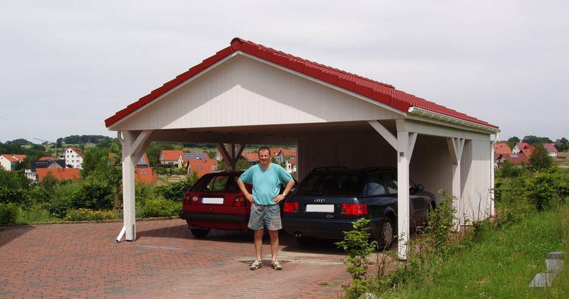 Foto Carport mit Satteldach
