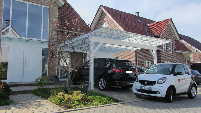 glasdach carports carport in holz alu stahl carport. Black Bedroom Furniture Sets. Home Design Ideas