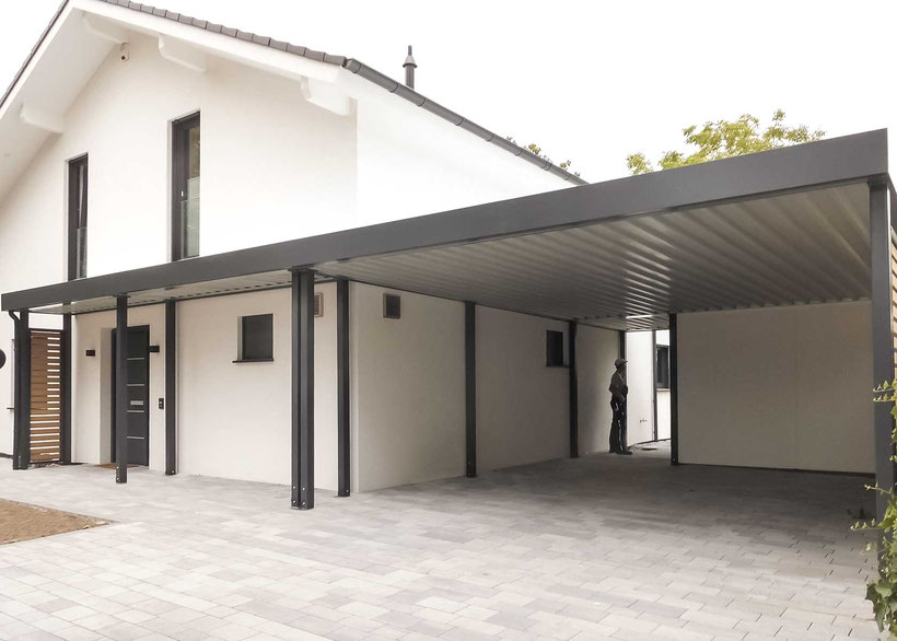 carports aus lippe carports in holz alu stahl carport bausatz. Black Bedroom Furniture Sets. Home Design Ideas