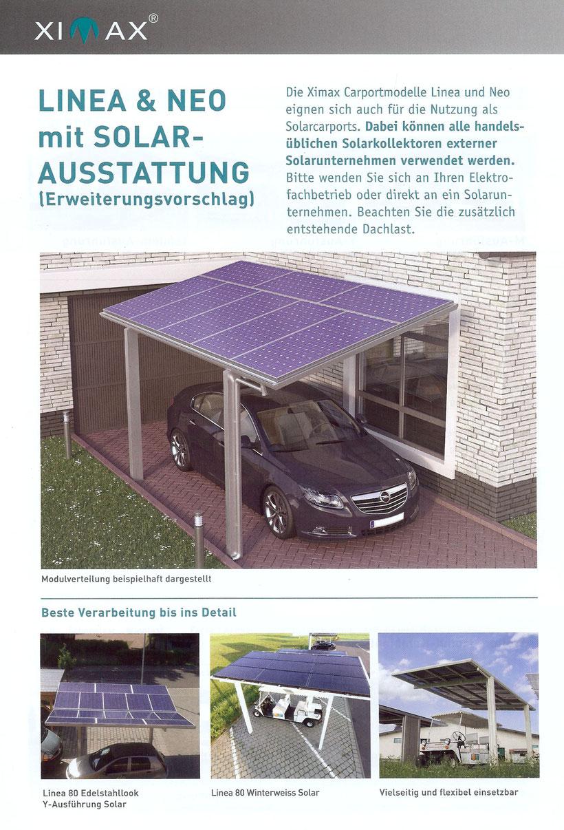 Alu-Carport Ausbau zum Solar-Carport