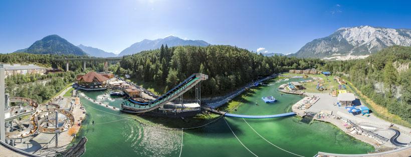 © AREA 47: Fotograf: Rudi Wyhlidal; Ötztal, AREA 47, Outdoor, Highlight, See, Freizeitpark, Panorama, Sommer, Wasser, Himmel, Berge