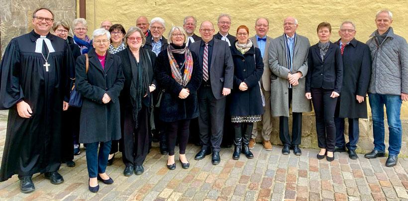 Gruppenbild von der Einführung des Kirchenvorstands am 8. März 2020